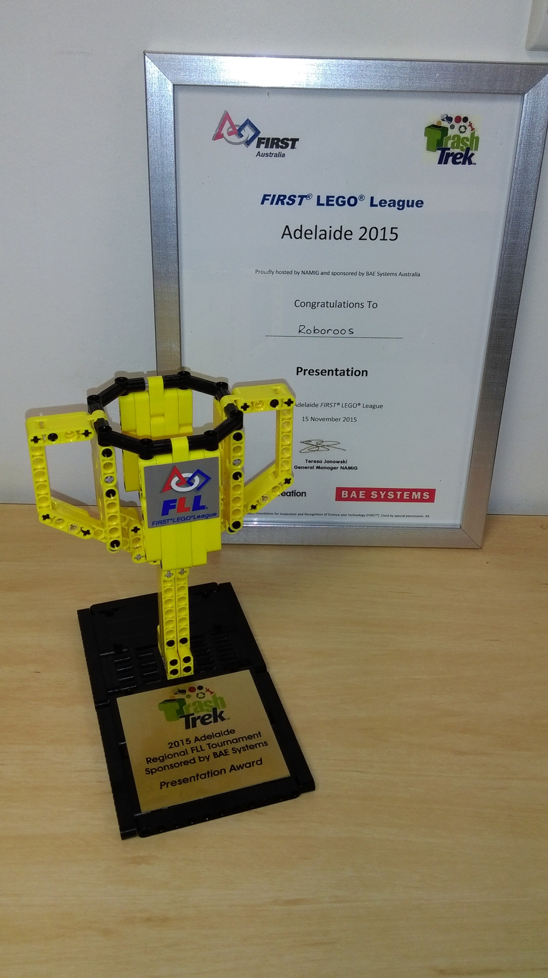 Presentation Award, FLL 2015